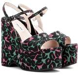 Miu Miu Jacquard wedge sandals