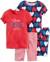 Carter's 4-Pc. Star Spangled Cutie Cotton Pajama Set, Toddler Girls (2T-5T)