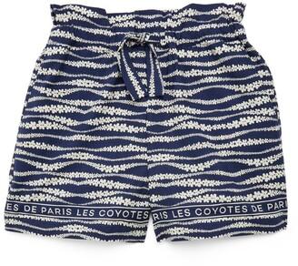 LES COYOTES DE PARIS Tropea Wave Print Shorts (8-16 Years)