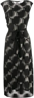 HUGO BOSS Applique Mesh Printed Dress