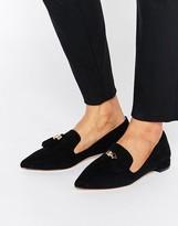 Carvela Moss Tassle Point Flat Shoes