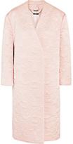 Alexander McQueen Quilted Silk Coat - Pastel pink