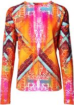Matthew Williamson Aztec Print Long Sleeve Top