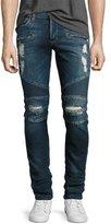 Hudson Blinder Biker Distressed Skinny Jeans, Faction (Blue)