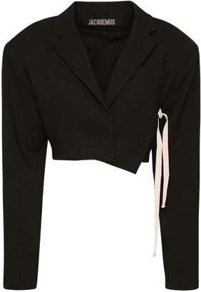 Jacquemus Cropped Wool Blend Jacket