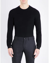 Ralph Lauren Purple Label Crewneck Textured Knitted Jumper