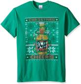 The Simpsons Men's Duff Beer Cheers Ugly Christmas T-Shirt