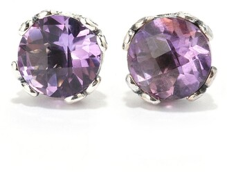 Samuel B. Sterling Silver Purple Amethyst Stud Earrings