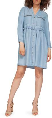 Dex Roll-Tab Sleeve Pocket Dress