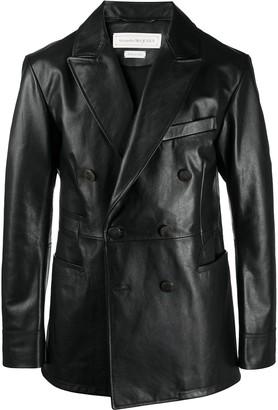 Alexander McQueen Double-Breasted Multi-Pocket Jacket