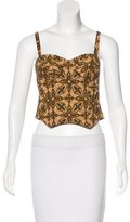 Dolce & Gabbana Embellished Bustier Top w/ Tags