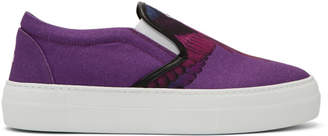 Marcelo Burlon County of Milan Purple Wings Sneakers
