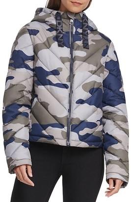 DKNY Camo-Print Packable Puffer Jacket