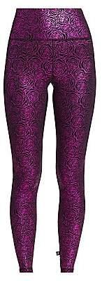 Terez Women's Foil-Print Tall Band Leggings
