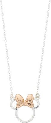 Disney Two-Tone Sterling Silver Minnie Mouse Necklace