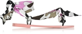 Emilio Pucci Dark Brown and Peonia Pink Silk Flat Sandals