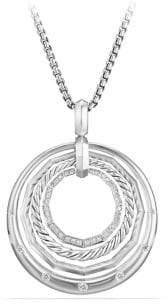 David Yurman Stax Medium Pendant Necklace with Diamonds