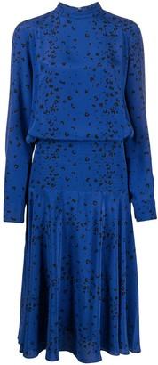 Kenzo Leopard Print Mid-Length Dress
