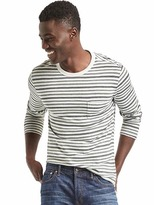 Gap Slub jersey stripe long sleeve tee