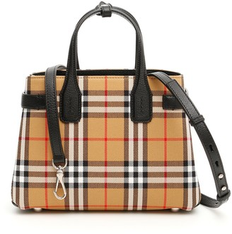 Burberry Checked Banner Bag
