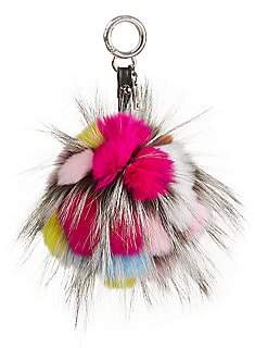 The Fur Salon Women's Julia & Stella For The Fur Salon Rabbit & Fox Fur Pom-Pom Keychain