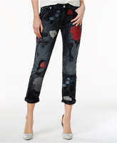 True Religion Audrey Ripped Embroidered Boyfriend Jeans