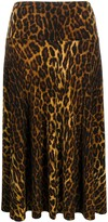 Thumbnail for your product : Norma Kamali High-Waisted Leopard-Print Skirt