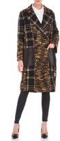 Rachel Zoe Metallic Plaid Coat