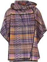 Missoni Crochet-knit wool-blend poncho