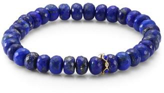 Sydney Evan 14K Yellow Gold, Diamond & Lapis Lazuli Rondelle Bracelet