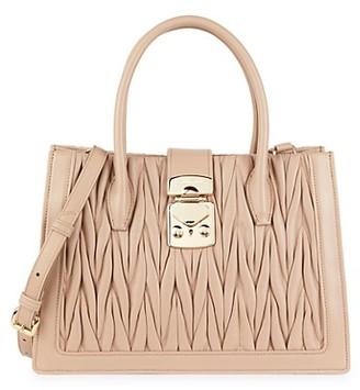 Miu Miu Braided Leather Top Handle Bag