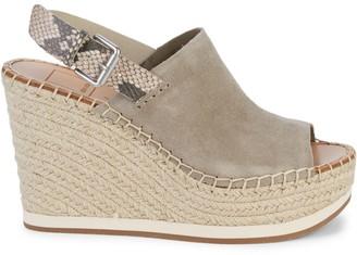 Dolce Vita Shan Suede Espadrille Slingback Platform Sandals
