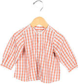 Bonpoint Girls' Plaid Button-Up Top w/ Tags