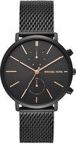 Michael Kors Men's Chronograph Jaryn Black Ion-Plated Stainless Steel Mesh Bracelet Watch 42mm MK8504