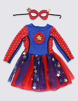 Marks and Spencer Kids' Super Girl Dress (3-12 Years)