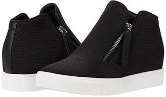 Steve Madden Click Wedge Sneaker (Black) Women's Shoes