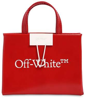 Off-White Off White BABY BOX LEATHER TOP HANDLE BAG