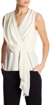 Jason Wu Drape Front Sleeveless Silk Shirt