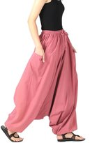 CandyHusky's 100% Cotton Baggy Boho Gypsy Hippie Harem Pants Unisex Plus Size