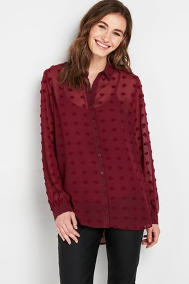 Wallis Berry Dobby Print Shirt