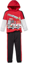 Nannette Little Boys' 2-Pc. Graphic-Print Hoodie & Pants Set
