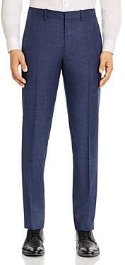 Theory Mayer Melange Solid Slim Fit Suit Pants