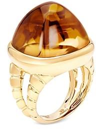 Marina B 18K Yellow Gold Sugarloaf Citrine Tigella Ring