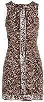 MICHAEL Michael Kors Women's Cheetah Border Print Shift Dress