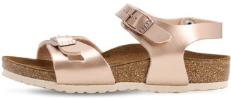 Birkenstock Metallic Faux Leather Sandals