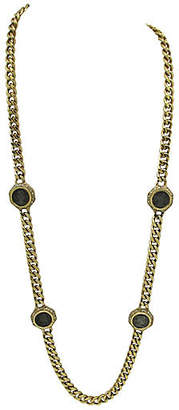 One Kings Lane Vintage Ciner Link Necklace with Grecian Coins - Thanks for the Memories - gold/silver/clear