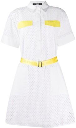 Karl Lagerfeld Paris Broderie Anglaise Shirt Dress