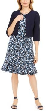Jessica Howard Petite Jacket & Printed Dress