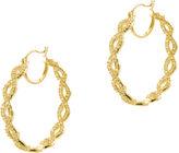 Kenneth Jay Lane FINE JEWELRY CZ by Gold-Tone Infinity Hoop Earrings
