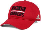 adidas Wisconsin Badgers Travel Adjustable Slouch Cap